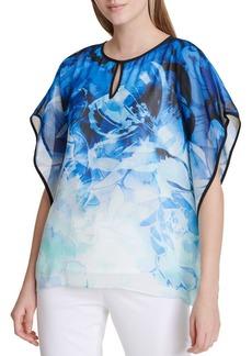 Calvin Klein Printed Kaftan Blouse