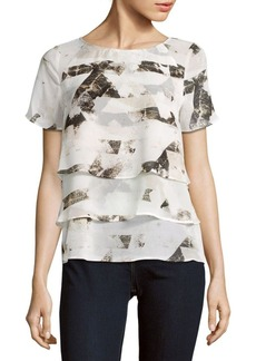 Calvin Klein Printed Layered Top