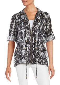 Calvin Klein Printed Linen Jacket