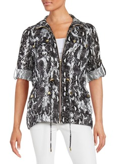Calvin Klein Animal Print Drawstring Jacket