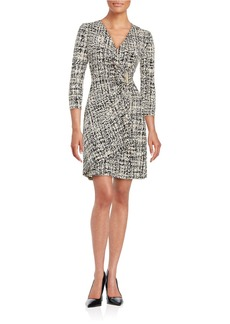 CALVIN KLEIN Printed Mock Wrap Dress