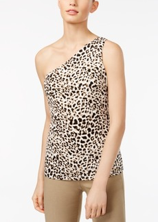 Calvin Klein Printed One-Shoulder Top