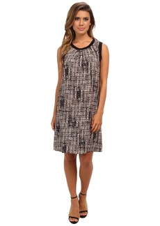 Calvin Klein Printed Rib Trim Dress