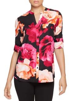 Calvin Klein Printed Roll Sleeve Shirt