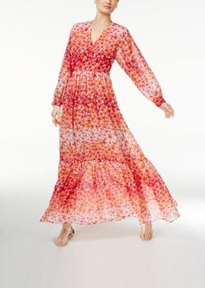Calvin Klein Printed Ruffled Maxi Dress