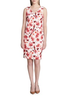 Calvin Klein Printed Scuba Dress
