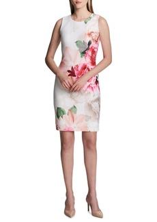 Calvin Klein Printed Scuba Dress