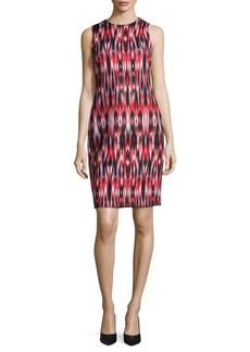 Calvin Klein Printed Scuba Sheath Dress