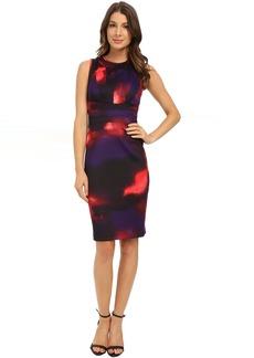 Calvin Klein Printed Seamed Sheath Dress