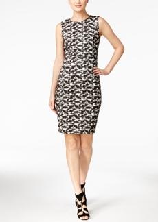 Calvin Klein Printed Sheath Dress