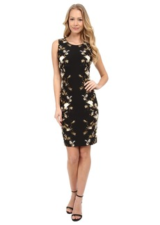 Calvin Klein Printed Sheath Dress w/ Darts