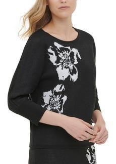 Calvin Klein Printed Short-Sleeve Sweater