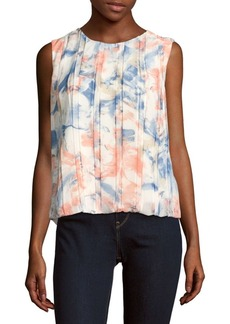 Calvin Klein Printed Sleeveless Blouse