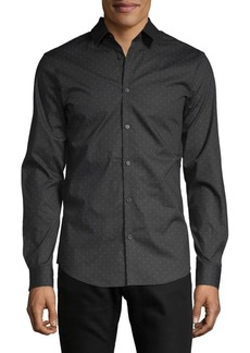 Calvin Klein Slim-Fit Stripe-Dot 2-Way Stretch Shirt