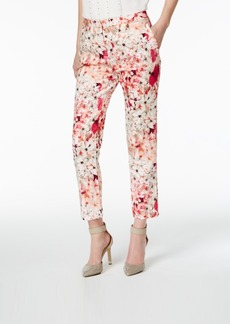 Calvin Klein Printed Straight-Leg Ankle Pants