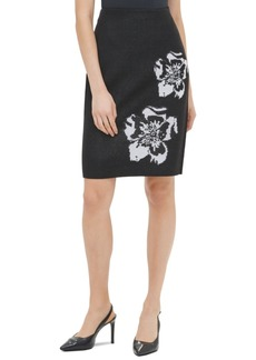 Calvin Klein Printed Sweater Pencil Skirt