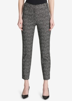 Calvin Klein Printed Tab-Waist Pants
