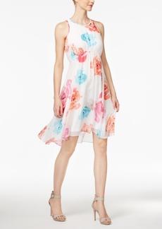 Calvin Klein Printed Tie-Back Babydoll Dress