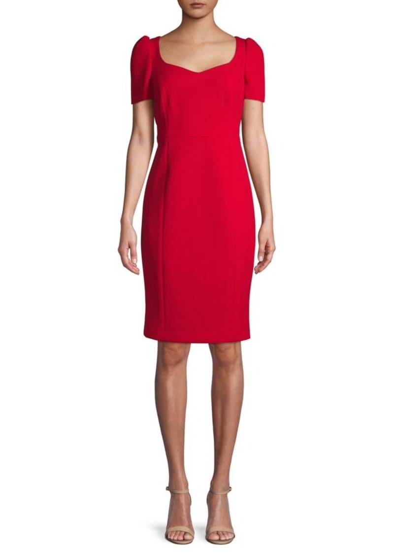 Calvin Klein Puff-Shoulder Sheath Dress