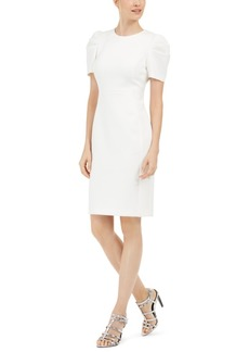 Calvin Klein Puff-Shoulder Sheath Dress