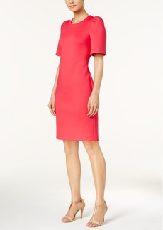 Calvin Klein Puffed-Shoulder Sheath Dress