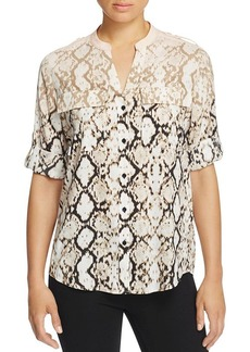 Calvin Klein Python Print Roll Sleeve Shirt