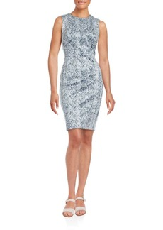 Calvin Klein Python Print Sheath Dress