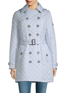 Quilted Belted Trench Coat