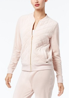 Calvin Klein Velour Quilted Bomber Jacket, a Macy's Exclusive Style