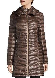 Calvin Klein Quilted Down-Fill Hooded Coat