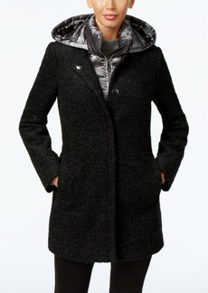 Calvin Klein Quilted-Layer Walker Coat, Only at Macy's
