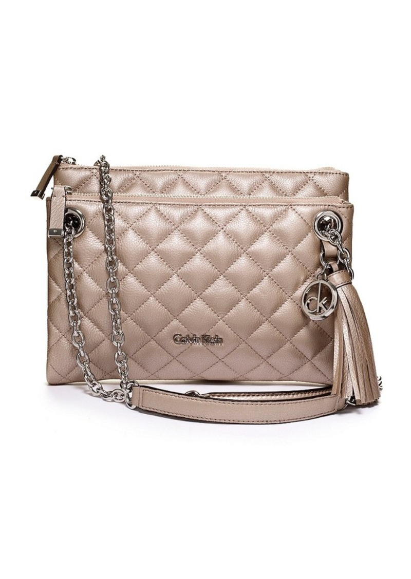864134238f74 Calvin Klein Calvin Klein Quilted Pebble Leather Crossbody