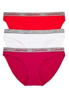 Calvin Klein Radiant Cotton Bikinis, Set of 3