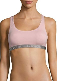 Calvin Klein Radiant Cotton-Blend Sports Bra