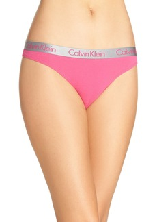 Calvin Klein 'Radiant' Cotton Thong (3 for $33)