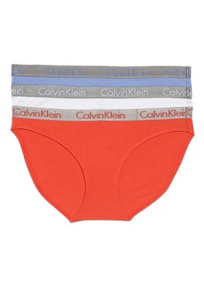 Calvin Klein 'Radiant' Stretch Cotton Bikini (3-Pack)
