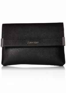 Calvin Klein Raelynn Saffiano Belt Bag Fanny Pack black/silver