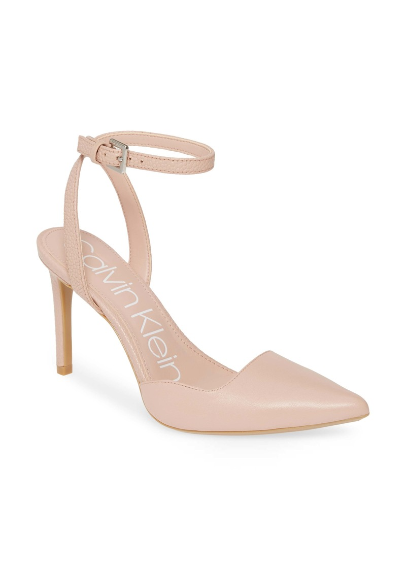 Calvin Klein Raffaela Ankle Strap Stiletto Pump (Women)