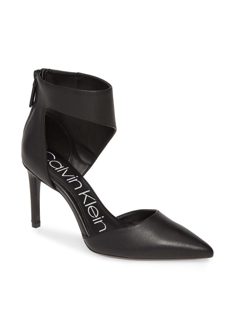 Calvin Klein Rajon Ankle Wrap Pump (Women)