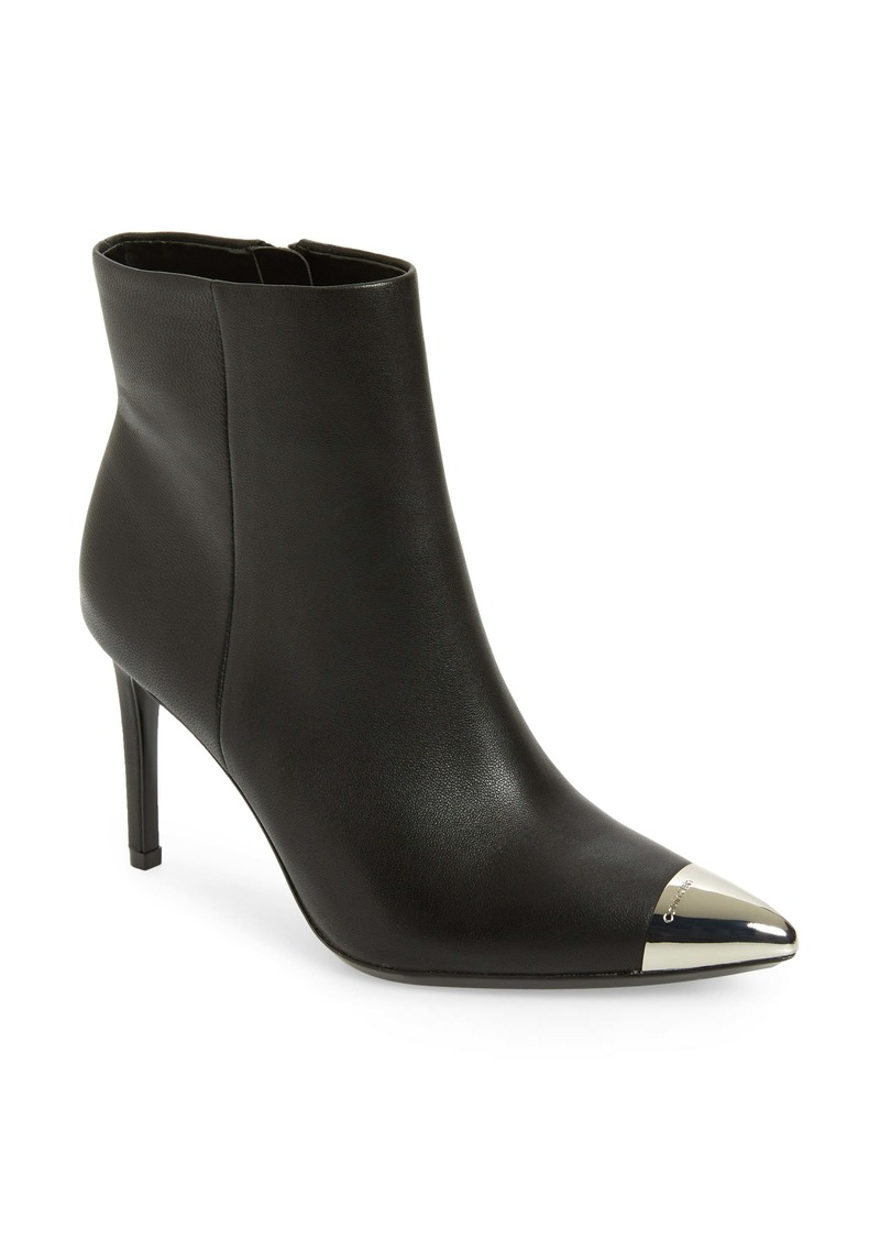 Calvin Klein Ravie Pointy Cap Toe Bootie (Women)