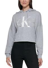 Calvin Klein Raw-Hem Graphic Hoodie