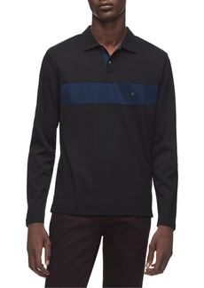 Calvin Klein Regular-Fit Colorblock Striped Cotton Rugby Shirt
