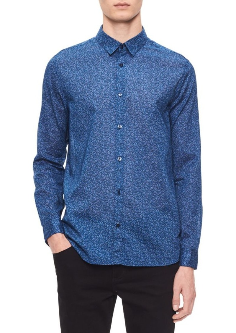 Calvin Klein Regular-Fit Floral Shirt