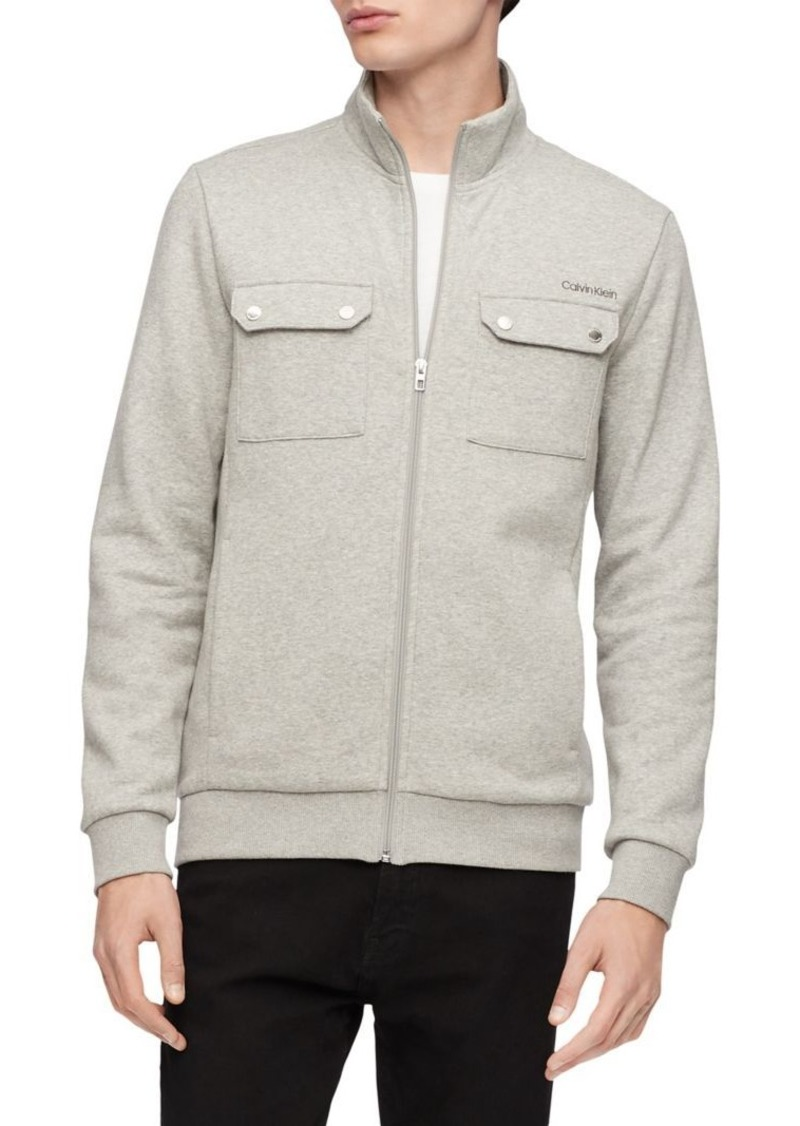 Calvin Klein Regular-Fit Logo Cotton-Blend Jacket