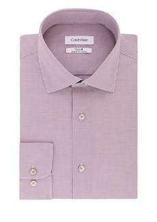 Calvin Klein Regular-Fit Micro Check Dress Shirt
