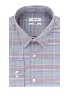 Calvin Klein Regular-Fit Plaid Dress Shirt