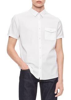 Calvin Klein Regular-Fit Short-Sleeve Pocket Shirt