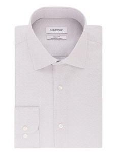 Calvin Klein Regular-Fit Textured Dobby Stretch-Cotton Dress Shirt