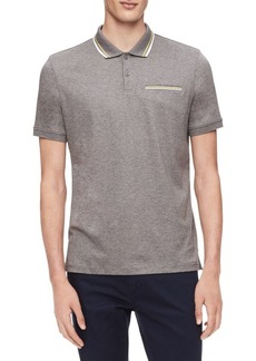Calvin Klein Regular-Fit Tipped Cotton Polo