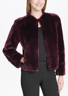 Calvin Klein Reversible Faux-Fur Faux-Suede Jacket